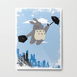 Totoro Poppins Metal Print