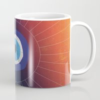 evil eye Mugs featuring Evil Eye by DuckyB