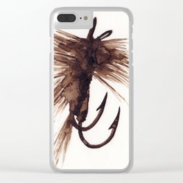 Fly Fishing Lure Clear iPhone Case