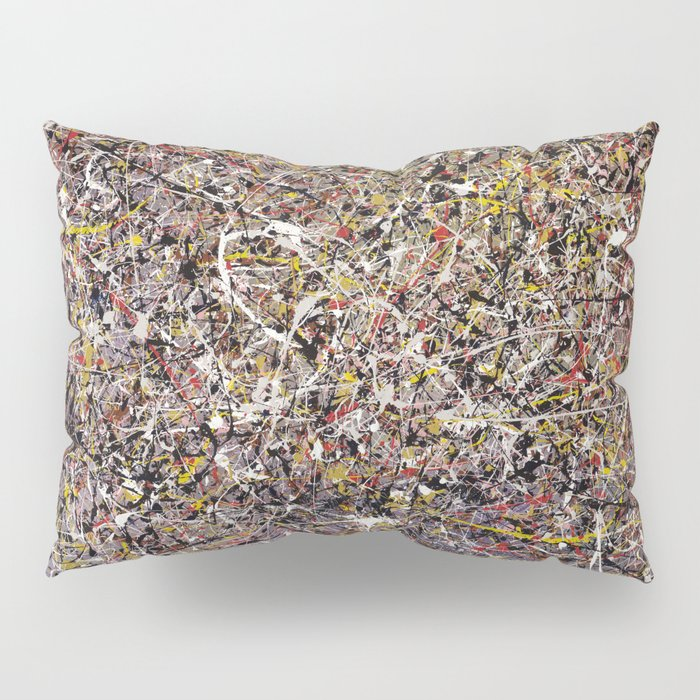 Intergalactic - abstract painting by Rasko Pillow Sham