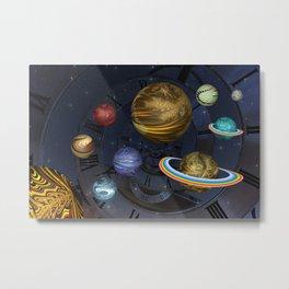 Planetary Time Spiral Metal Print
