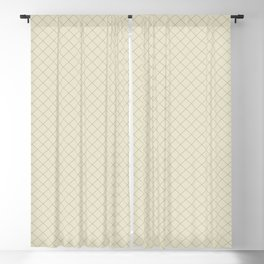 Earthy Green on Pale Beige Parable to 2020 Color of the Year Back to Nature Angled Grid Pattern Blackout Curtain