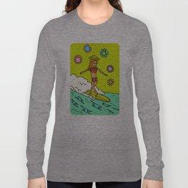 lady slider cross step // surfy birdy Long Sleeve T-shirt