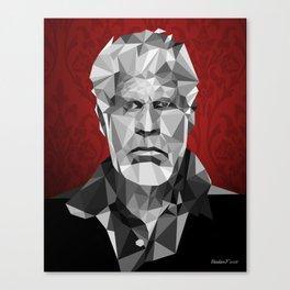 Ron Perlman low poly Canvas Print