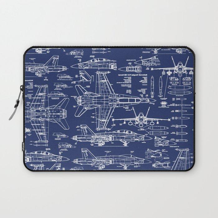 F-18 Blueprints Laptop Sleeve