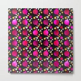 Circles - Pink Metal Print