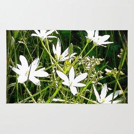 White wildflowers. Rug