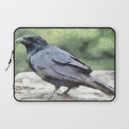 Crows Everywhere Are Equally Black Laptop Sleeve