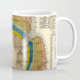 Vintage Michigan Geological Map (1865) Coffee Mug