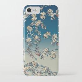Bullfinch and French Bulldog Cherry iPhone Case