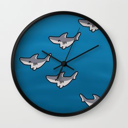 Little sharks Wall Clock