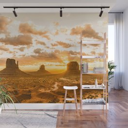 Southwest Wanderlust - Monument Valley Sunrise Nature Photography Wall Mural
