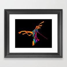 huitzilin tlahuilli - colibri - hummingbird Framed Art Print