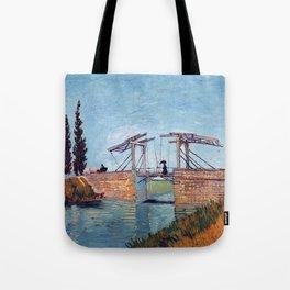 Vincent Van Gogh - Drawbridge at Arles 2 Tote Bag