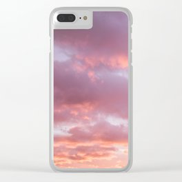 Unicorn Sunset Peach Skyscape Photography Clear iPhone Case