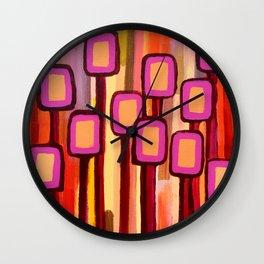 Fuchsia Grove Wall Clock