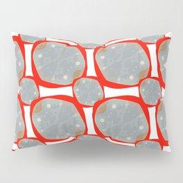 Red Organic Rings Pillow Sham