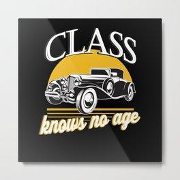 Classic Car Retro Metal Print