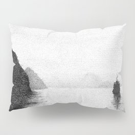 Water, Mountain and Boat Pillow Sham