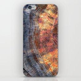 Macro Tree Stump Ring iPhone Skin