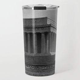 Construction of The Lincoln Memorial (1920) Travel Mug