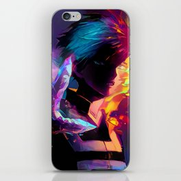 Neon Hot-Cold iPhone Skin