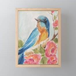 Bluebird of Happiness  Framed Mini Art Print