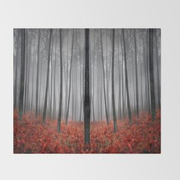 The Scary Forest Throw Blanket