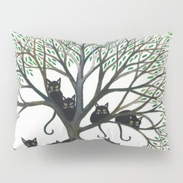 Borders Whimsical Cats in Tree Pillow Sham