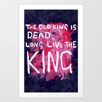 "coldplay Art Prints featuring ""Long Live The King""-Coldplay by Fabfari"