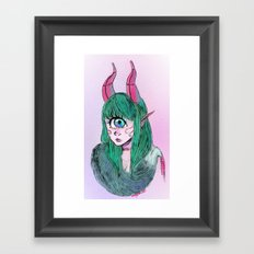 Cyclops with fur Framed Art Print