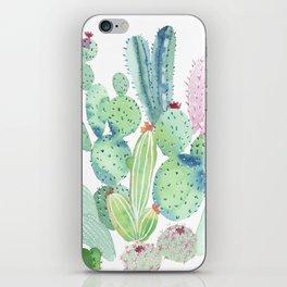 Watercolor Cactus light iPhone Skin