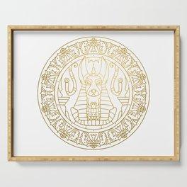 Anubis Mandala – Egypt Serving Tray
