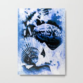 Marine Treasure, Blue Surf Metal Print