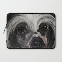 Chinese Crested Up Close Laptop Sleeve