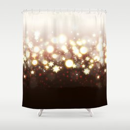 Stars Can't Shine Without Darkness sparkly lights stardust and fireworks art Shower Curtain