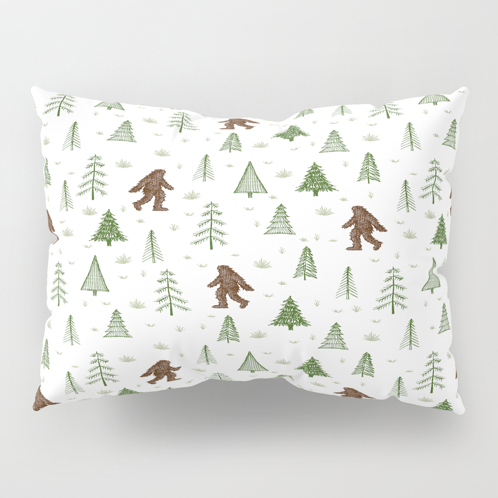 Trees + Yeti Pattern In Color Pillow Sham by Staceywalkeroldham PSH8597777