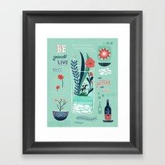 My Blue Dream Framed Art Print
