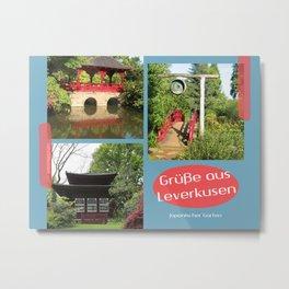 Grüße aus Leverkusen Japanischer Garten Metal Print