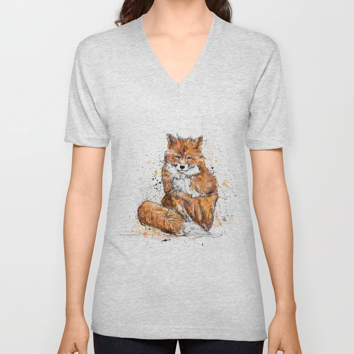 Red fox Unisex V-Neck