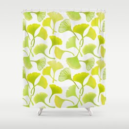 First Day of Autumn Ginkgo Leaves Shower Curtain