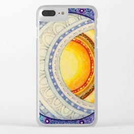 Sun, Moon & Stars Square Clear iPhone Case