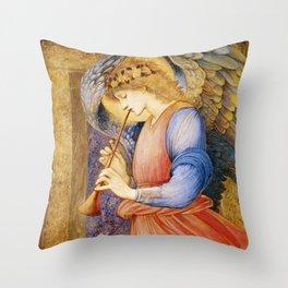 Angel Gabriel Antique Spiritual art Throw Pillow