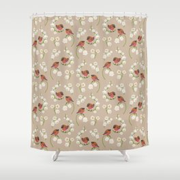 Brown-capped rosy finch Shower Curtain