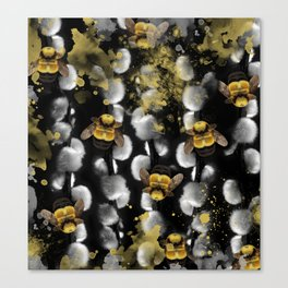 Bumble Bee Willow Canvas Print
