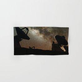 Radio Telescopes and Milky Way Hand & Bath Towel
