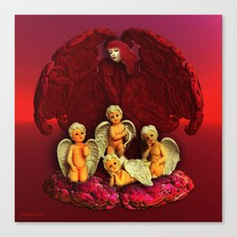 #Christmas Angels Canvas Print