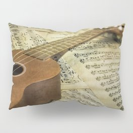 Do a Little Jig; ukulele with sheet music in the background Pillow Sham