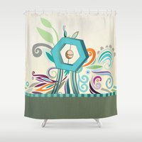 polygon Shower Curtains featuring Polygon monument by /CAM