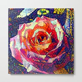 Jeweled Rose Metal Print